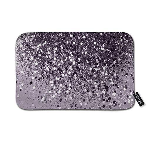 Sparkling Lavendel Lady Glitzer Badvorleger, Fußmatte, weich und saugfähig, rutschfest und plüschig, Badematte für Badezimmer, Wohnzimmer und Waschküche, 39,9 x 59,9 cm