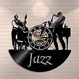 Usmnxo Músico Banda de Jazz Reloj de Pared Hombres Tocando...