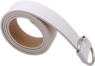 #N/A Godong Naaldvrije Cirkel Riem Elastische Riem Platte Gesp Riem Jeans Broek Riem Voor Jeans Broek Jurken, wit
