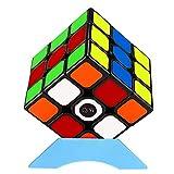 QiYi Magic Cube [2020最新] 魔方 3x3 競技用 立体パズル ポップ防止 (ブラック 1個)