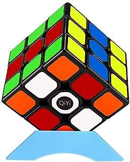 QiYi QiHang 魔方 マジックキューブ 3x3 立体パズル【6面完成攻略書付き】競技用 ポップ防止 スタンド付き