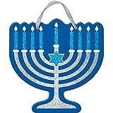 Amscam 241290 Panneau à Paillettes Hanukka Hanukkah Menorah