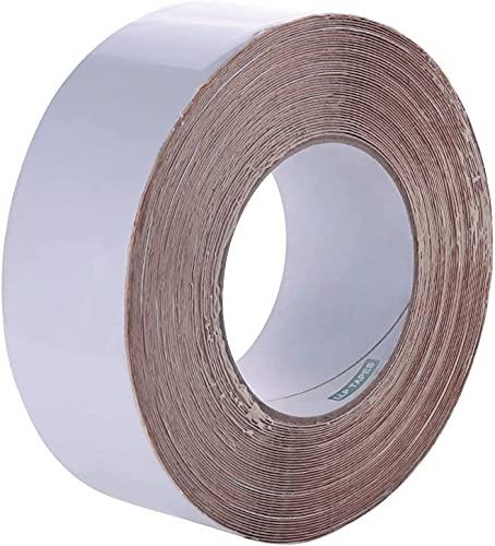 LLPT Butylband weiß Dichtband RV-Reparatur 5cm x 15m Butyl-Dachflicken RV-Gummidichtband wetterfest Starker Rollwiderstand für Fenster-RV-Reparatur Bootsbelüftungsleckagen (SV502)