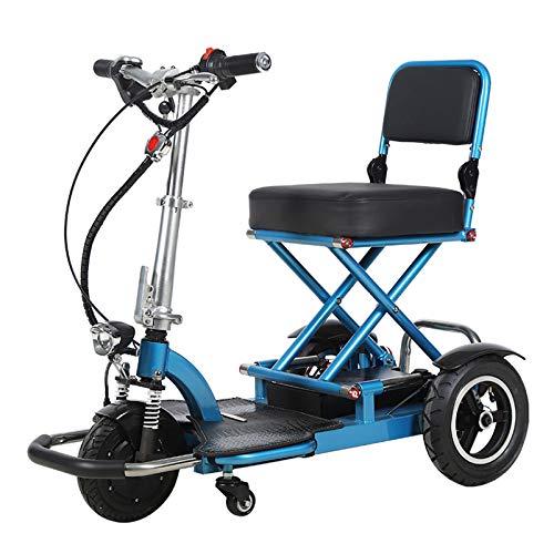 YF-Mirror Mobility Scooters de Movilidad compactos para Adultos - 150 kg de...