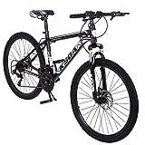 Mens/Womens Mountain Bike, Aluminum Frame Bike with Linear Pull Brakes...
