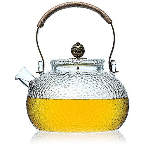 Artisanale Glazen Theepot Met Strainer - Thee Pot Voor Losse Thee - Dikke Glas Thee Pot Infuser Of Diffuser Voor Thee In Te Zetten - 750g