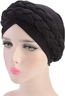 bc56aa4884eb0e Qianmome Islamic Prayer Turban Hats Muslim Turban Inclusive Cap Women  Double Color Hijab Braids Caps