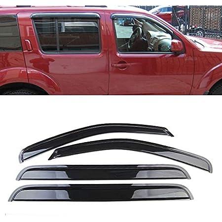 Fits: 2005-2012 Nissan Pathfinder APU Window Vent Visors Rain Guards