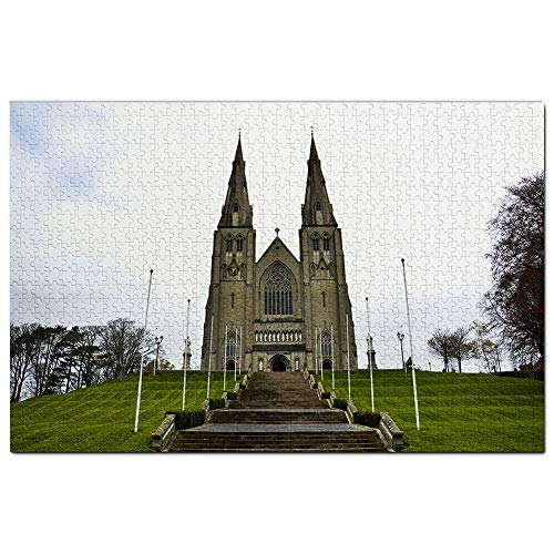 Irlanda St. Patrick's Cathedral Dublino Puzzle da 1000 pezzi in legno per adulti grafico da viaggio souvenir legno
