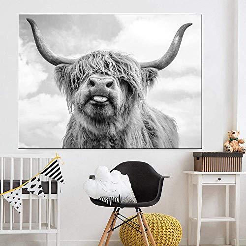 Puzzle 1000 piezas Pintura nórdica de la decoración del arte del ganado de las tierras altas del arte del ganado puzzle 1000 piezas adultos Juego de habilidad para toda la fam50x75cm(20x30inch)