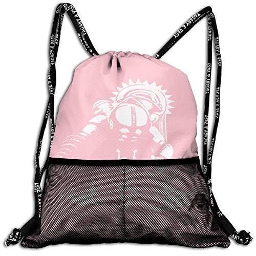 ziHeadwear Bioshock Drawstring Bag Sport Gym Sack Bundle Backpack Daypack for Men and Women Outdoor Shopping Satchel Rucksack