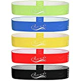 【5 Resistance Bands】The best exercise bands are perfect for assisting in P90x, CrossFit, Yoga, Insanity, Pilates, Hot Yoga, and Beach Body workouts. The detailed workout programs included with each purchase can help you solve the problem of body shap...