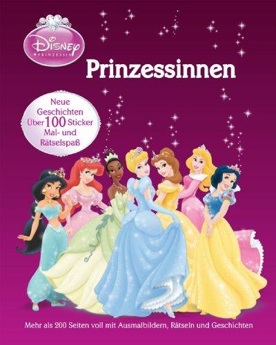 Disney Prinzessinnen - Sammelband: über 200 Seiten mit Geschichte, Ausmalbilder & Rätsel