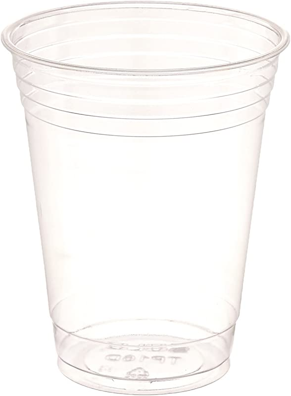 SOLO Cup Company Plastic Party Cold Cups 16 Oz Clear 100 Pack
