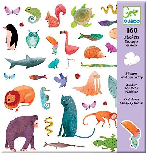 Djeco globospegatinasdjecopegatinas Sauvages et tiernos Multicolore (100)
