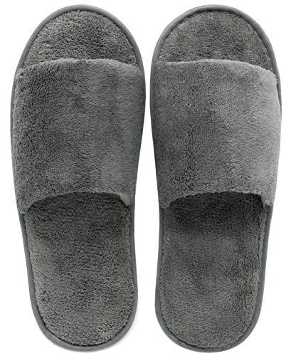ZOLLNER 10 Paia Pantofole per Ospiti, Misure universali, Grigie, Altri Colori