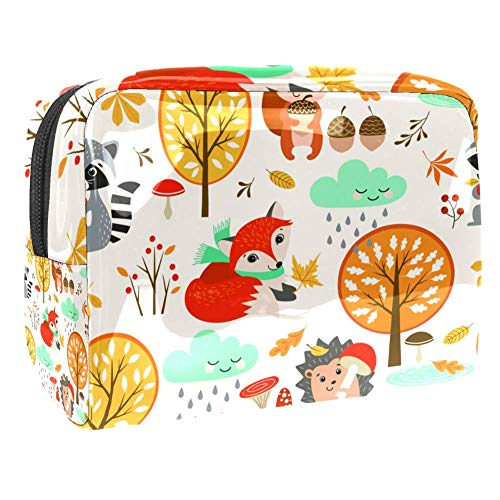 Maquillage Cosmetic Case Multifunction Travel Toiletry Storage Bag Organizer for Women - Cute Fox Tree