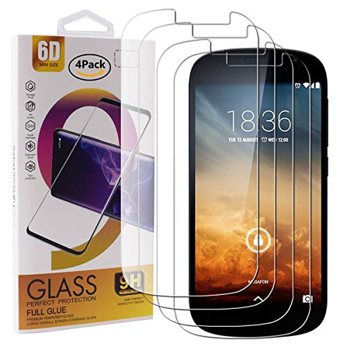Guran 4 Paquete Cristal Templado Protector de Pantalla para Yotaphone 2 Smartphone...