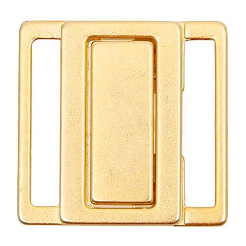 Großhandel für Schneiderbedarf Bikiniverschluss Metall Gold 30mm Stegbreite