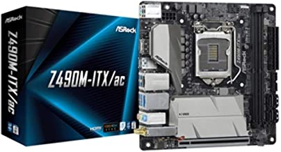 ASRock Z490M-ITX/ac Supports 10 th Gen Intel Core Processors (Socket 1200) Motherboard