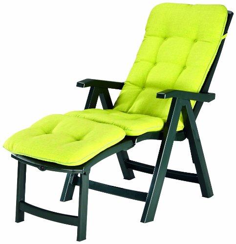 BEST 96336234 Florida Chaise Longue avec Coussin Vert