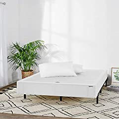 Offers the look and functionality of a traditional box spring, but made from steel for longer-lasting durability sturdy enough to support any spring, foam, or hybrid mattress Durable steel frame and horizontal slats provide sturdy, reliable support f...