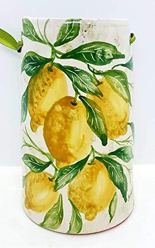 Tegola decorativa Linea Limoni Realizzata e Dipinta a Mano Le Ceramiche del Castello Nina Palomba Made in Italy Dimensioni 20 x 12 centimetri