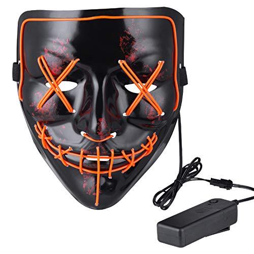 Anroll Halloween Mask LED Light Up Mask for...