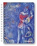 Chagall - Buchkalender Deluxe 2021 - Kalenderbuch A5 - Taschenkalender - teNeues-Verlag - Taschenplaner mit Spiralbindung - 17 cm x 22 cm - Kunstkalender