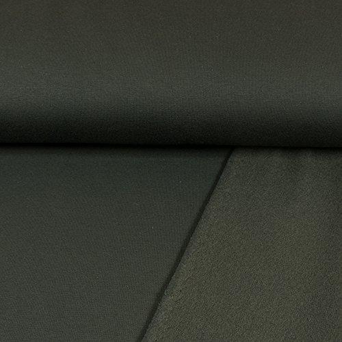 Sweatshirt Stoff Uni schwarz Sweat weiche angeraute Rückseite einfarbig kuschelig Meterware - Preis Gilt für 0,5 Meter