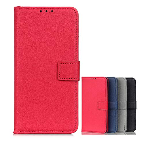 BaiFu Brieftasche Schutzhülle für Vivo NEX 3S 5G Hülle mit Kartenfach Etui Standfunktion & Magnetisch Handyhülle Leder Flip Lederhülle für Vivo NEX 3S 5G (Rot)