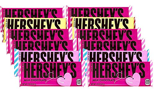 Hershey's Personalized Milk Chocolate Bars, Classic Hershey Bars Pastel Spring Colors, Prime Idea for Mothers Day Gift, 1.55 ounce, Pack of 12