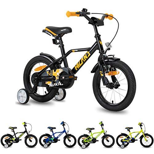 HILAND Adler 16 Zoll Kinderfahrrad für Jungen 4-7 Jahre mit Stützrädern, Handbremse und Rücktritt