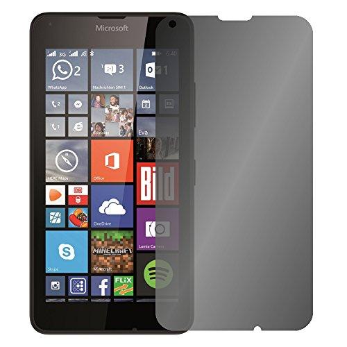Slabo Blickschutzfolie für Microsoft Lumia 640 | 640 Dual-SIM Sichtschutz 4-Way Bildschirmschutzfolie 360 Grad View Protection Privacy Schwarz