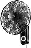 Byakns Muro de Negocios con Ventilador, Negro, cordón   silenciosos   3 velocidades   Protección del Medio Ambiente   Ventilador de Pared     Ventilador eléctrico adecuados for el hogar, Oficina