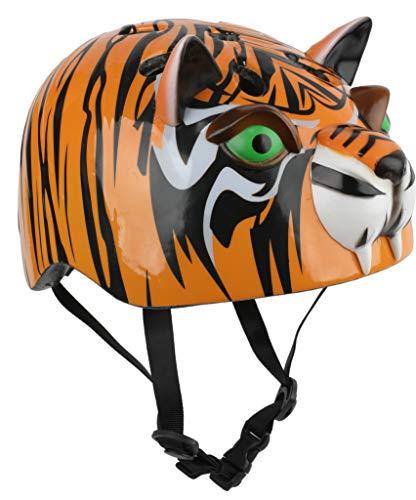 Credhedz Tiger Kids Bike Helmet & Kids Skateboard Helmet | Unique Boys Bike and Girls Bike Safety Helmet, Shock Absorbent EPS Inner Shell, One Size Fits All, for Ages 8+