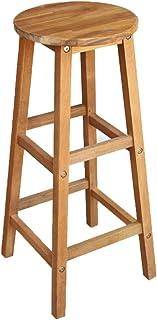 vidaXL 2X Bois Massif d'Acacia Chaise de Bar 34x34x76 cm Chaise de Cuisine