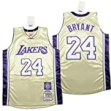 YDHZ Lakérs # 24 Kobé Bryant Hall of Fame Basketball Jersey Sportswear Sin Mangas de Manga Corta Camiseta Bordado Malla Baloncesto Swinger Unisex A-S