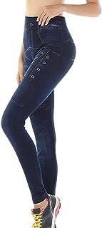 Fossen MuRope Pantalones Mujer Tejanos de Imitación Cintura Alta - Pants Jeans de Imitación para Modelar el Cuerpo - Panta...