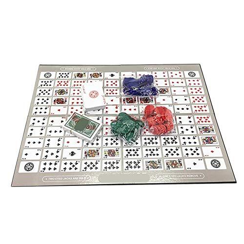 seraphicar Tischspielmuster Big Chess Brettspiel, Spiel Schach Family Game Toy, Englisch und Arabisch Sequence Game Chess for Kid