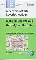 DAV Alpenvereinskarte Bayerische Alpen 14. Mangfallgebirge Sued, Guffert, Unnuetz, Juifen 1 : 25 000. Mit Wegmarkierungen, Ski- und Schneeschuhrouten