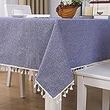 sans_marque Manteles, mesas, textiles para el hogar, elegantes manteles bordados, modernas cubiertas de mesa antiguas, manteles de lujo 140*220CM