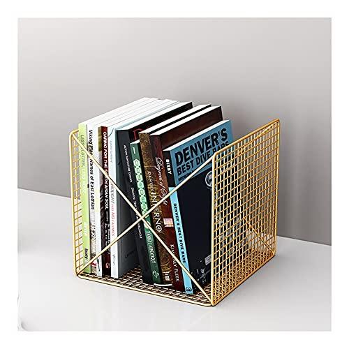 WFS Estante Titular de la Revista Desktop Bookshelf Organizer Periódicos Titular Letras Almacenamiento para decoración Inicio Oficina Robusto (Color : Gold)