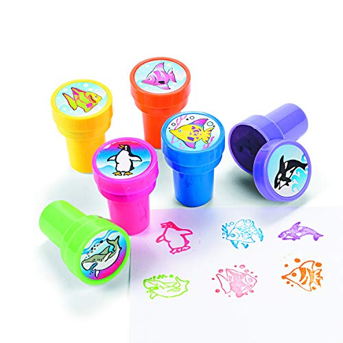 Ocean Life Stamps Birthday Party Loot Bag Accessories (24 Piece)