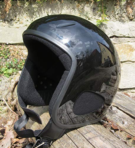 Skorpion TITAN-Kulthelm schwarz/glänzend Biker, Chopper, Ski, Harley, Jethelm in schwarz/glanz, Gr.: 2XL