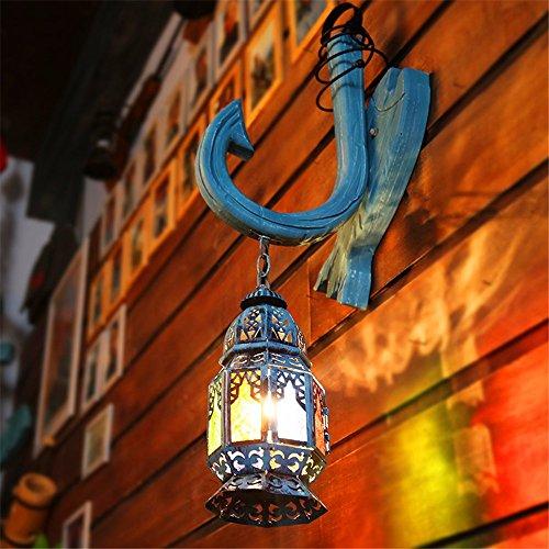 JJZHG Wandlamp, waterdicht, wandverlichting, wandlamp, glazen wandlamp, creatieve retro-lantaarn, bar café, wandlamp omvat: wandlamp, stoere wandlampen, wandlampen design