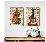 Chenjiaxu Guitarra Partitura Obra De Arte Lienzo Pintura Carteles...