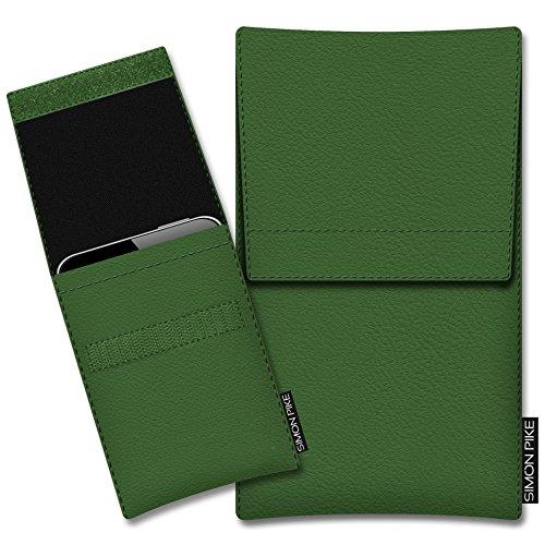 SIMON PIKE Schutztasche Sidney, kompatibel mit BlackBerry Porsche Design P9983, in 01 Gruen Kunstleder Handyhülle Schutzhülle Handytasche