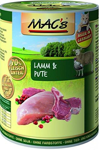 Mac's Katzenfutter getreidefrei Lamm & Pute, 400 g