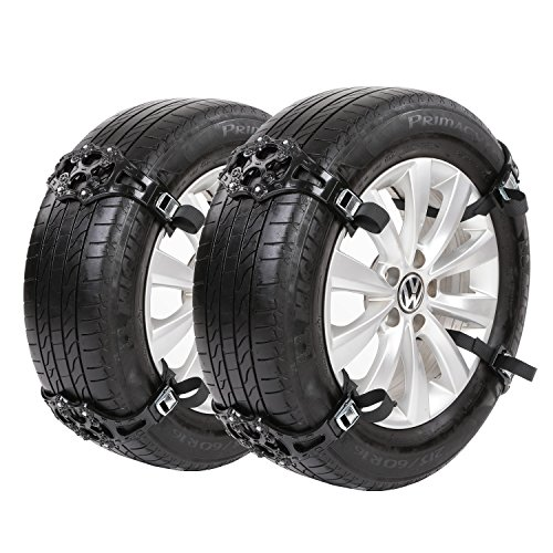 Sanku 2018 Upgraded Snow Tire Chains,Fits for Most Car/SUV/Truck-Set of 8 (Black)